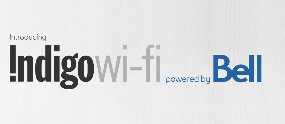 Indigo wi-fi powered by Bell