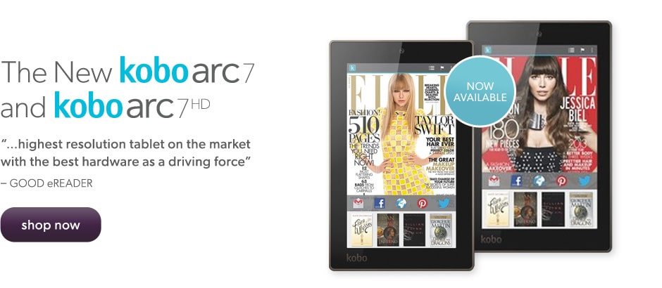 Shop the new kobo arc 7 & kobo arc 7HD