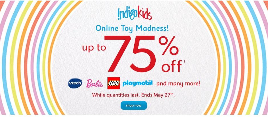 Online Toy Madness Up to 75% off(1)