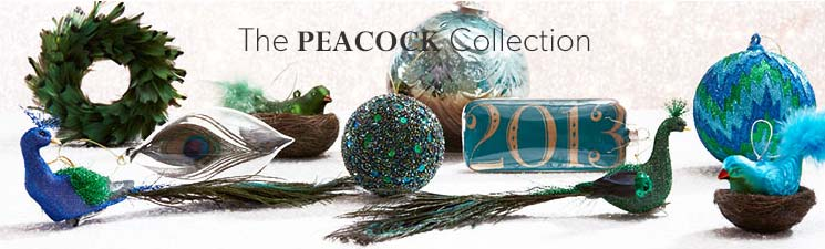 The Peacock Ornament Collection