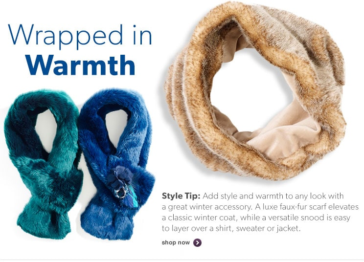 Add style and warmth to any look with a great winter accessory