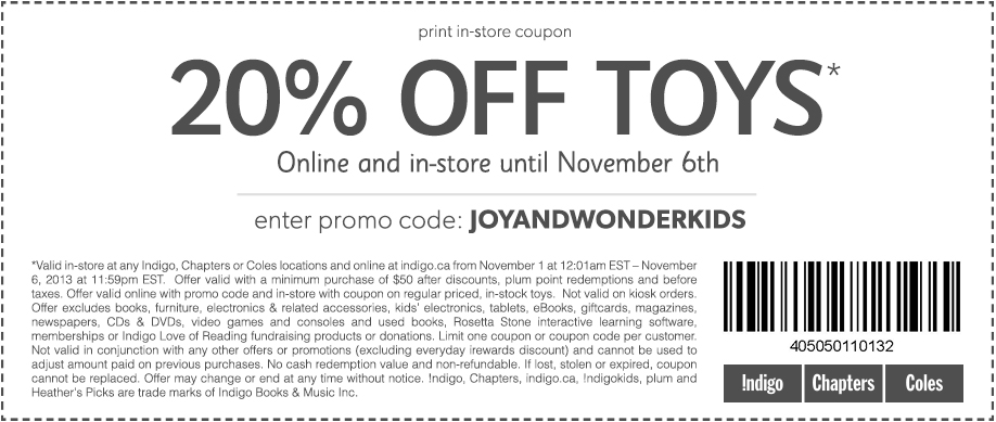 Discount coupons for indigo