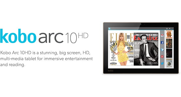 The best HD tablet for reading and multimedia. Unparalleled power and performance. Kobo arc 10HD