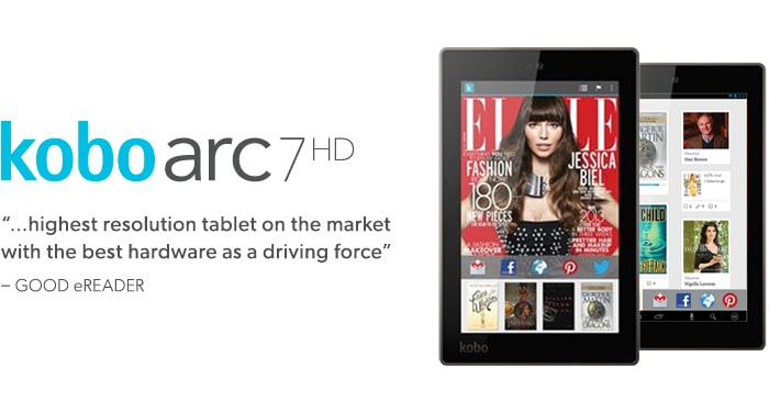 Read. Collect. Discover. Share. $199.99 kobo arc 7 HD