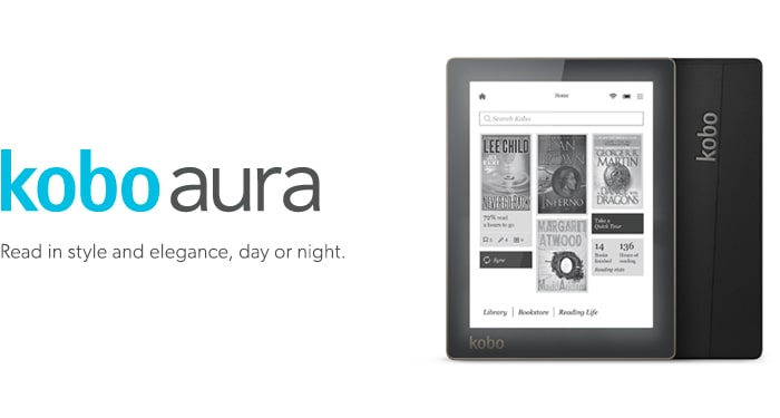 Read in style and elegance, day or night. kobo aura