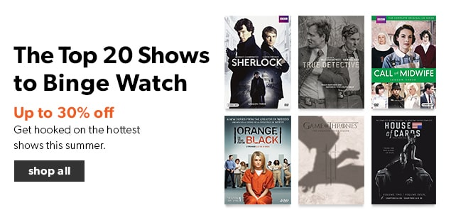 shop the top 20 TV shows to binge watch. Get hooked on the hottest shows this summer.