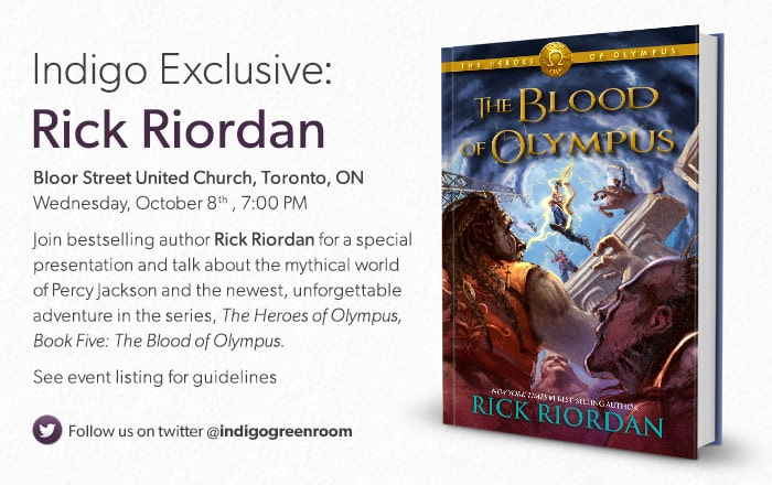 Join bestselling author Rick Riordan for a special presentation and talk about the mythical world of Percy Jackson and the newest, unforgettable adventure in the series, The Heroes of Olympus, Book Five: The Blood of Olympus.