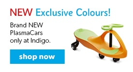 shop brand NEW PlasmaCars in exclusive colours only at Indigo.