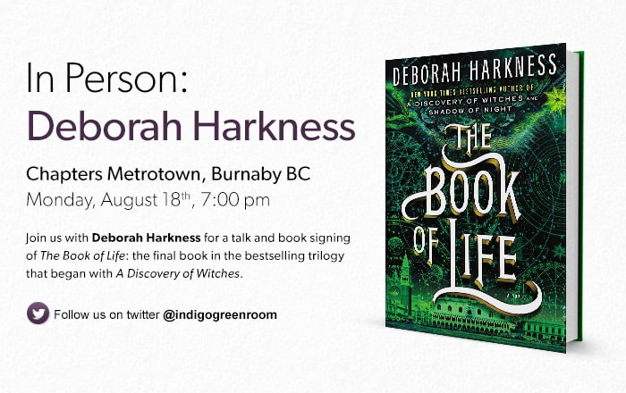 Join us with Deborah Harkness for a talk and book signing of The Book of Life, the final book in the bestselling trilogy that began with A Discovery of Witches.