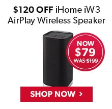 $120 Off iHome iW3 AirPlay Wireless Speaker