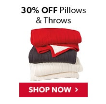 30% Off Pillows and Throws