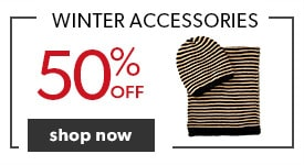50% off winter accessories