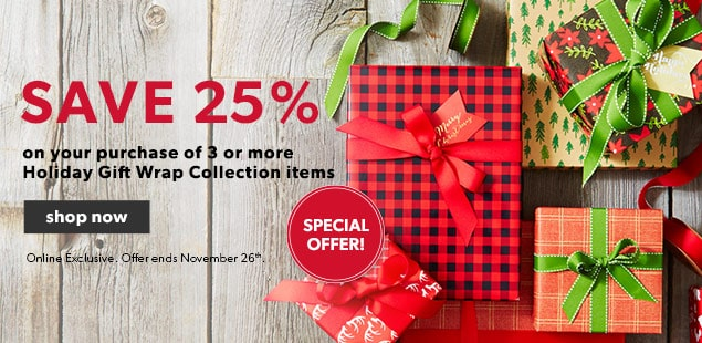 Special Offer! Holiday Wrap Collection