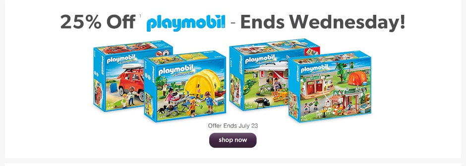 25% Off All Playmobil Toys