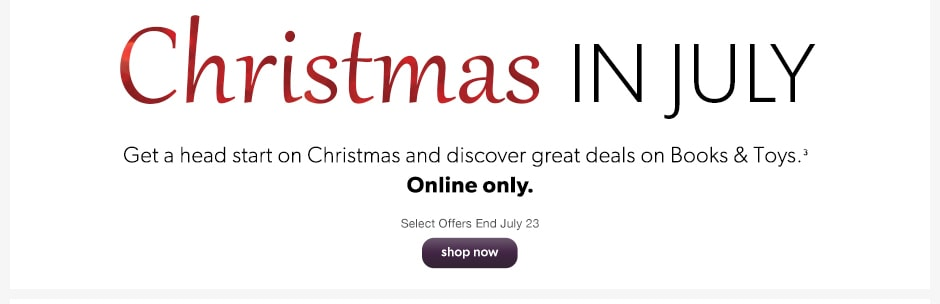 christmas in july deals on selected items
