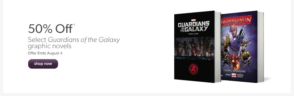 50% Off Select Guardians of the Galaxy graphic novels