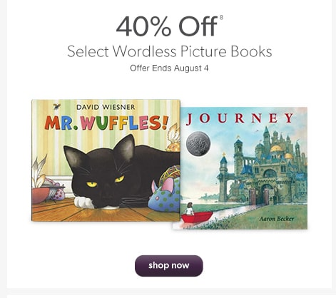 40% Off Select Wordless Picture Books