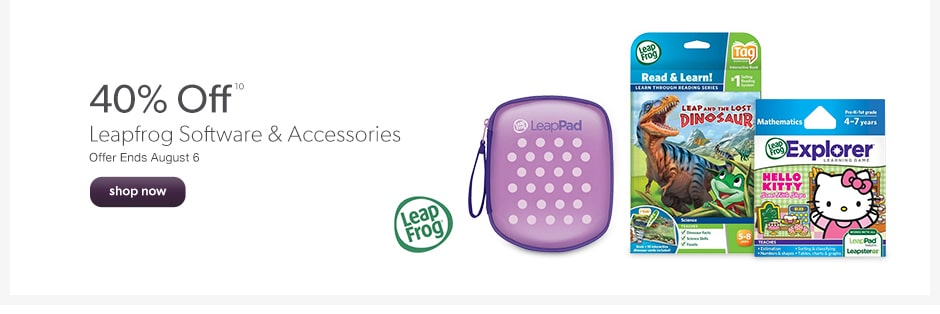 40% Off Leapfrog Software & Accessories