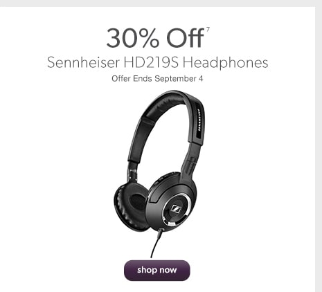30% Off Sennheiser HD219S Headphones. Offer Ends September 4