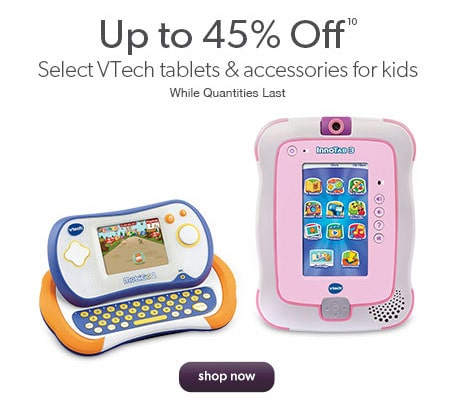 Up to 45% off select VTech electronics. While quantities last.
