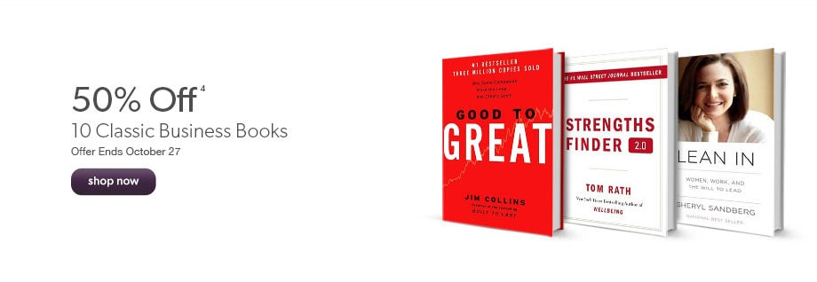 50% off 10 classic business books. Offer Ends October 27.