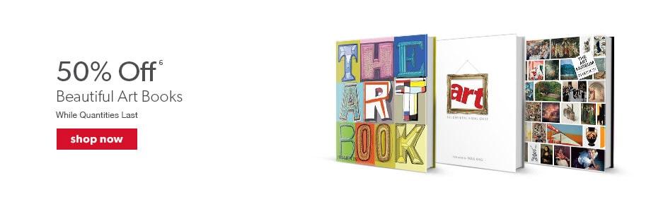 50% off beautiful art books