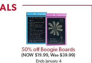 50 % de rabais sur les tablettes d'écriture Boogie Board