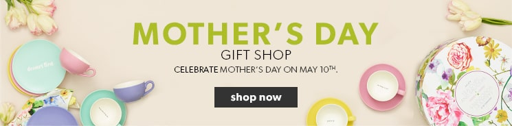 shop for perfect gifts, beautiful books and tableware in our Mother's Day gift shop