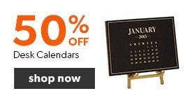 50% off Desk Calendars