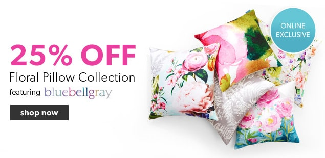 25% off Floral Pillows featuring bluebellgray