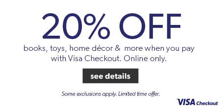 Save 20% when you pay with Visa Checkout