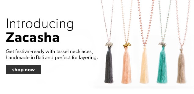 Shop our collection of Zacasha necklaces, perfect for layering. Free shipping on orders over $25.