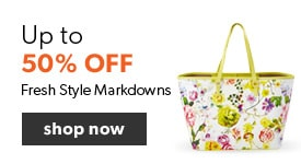 Fresh style and fashion markdowns up to 50% off. Free shipping on orders over $25.