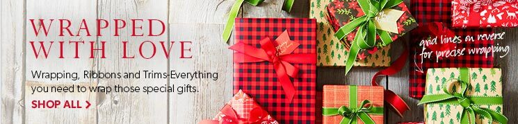 Wapping, ribbons and trim - all you need to wrap that special gift