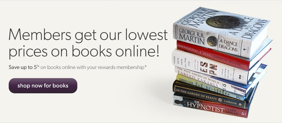 Members get our best prices on books online!