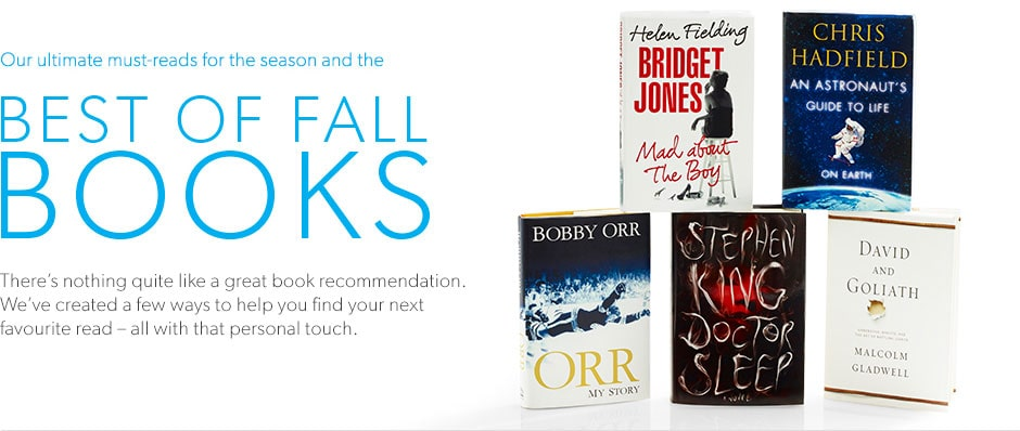 There's nothing like a great book recommendation. We've created a few ways to help you find your next favourite read - all with a personal touch.
