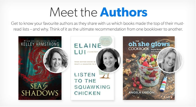 Get to know your favourite authors - Kelley Armstrong, Elaine Lui and Angela Lidden