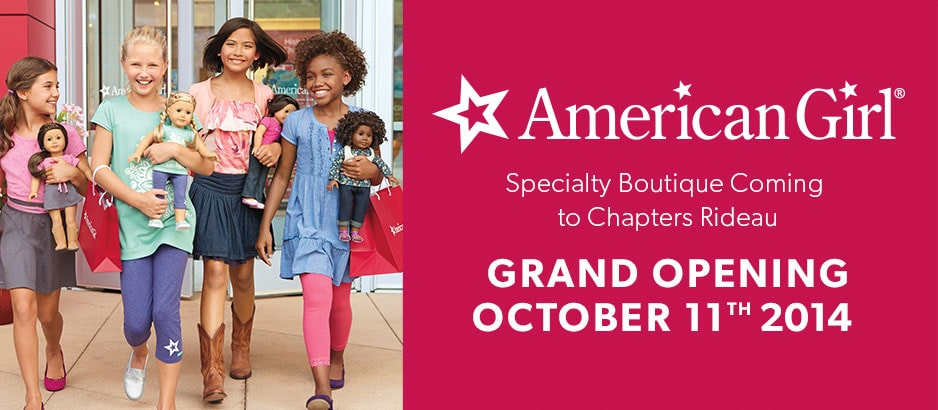 American Girl Specialty Boutique Chapters Rideau Grand Opening