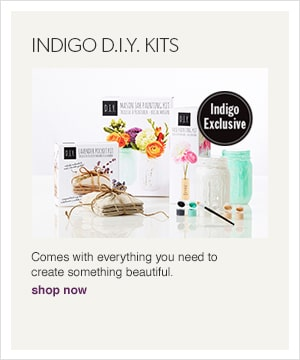Shop our exclusive D.I.Y. kits - they come with everything you need to create something beautiful.