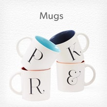 Shop mugs, coffee cups and travel mugs.