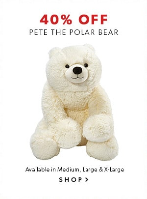 Black Friday 2015: shop Pete the Polar Bear at 40% off. Available in Medium, Large and X-Large.
