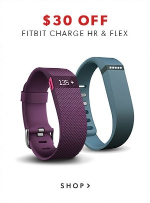 Black Friday 2015: shop Fitbit Charge HR and Flex at $30 off