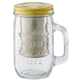 Notice of Recall Mason Jar Mug with Tea Steeper