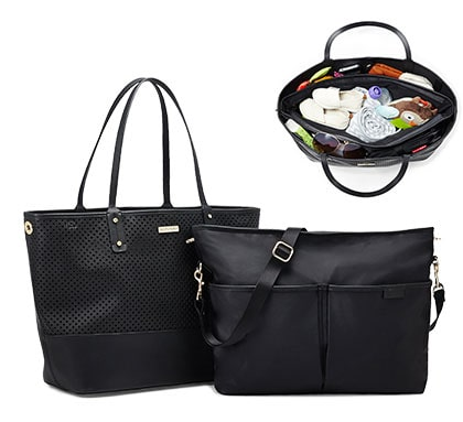 Shop Skip*Hop Diaper Bags: Duet 2-in-1 Diaper Tote available in taupe and black