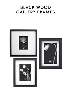 shop our black wood gallery frame collection