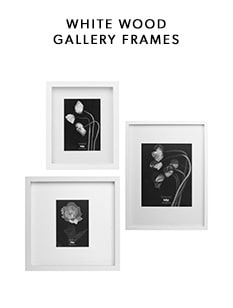 shop our white wood gallery frame collection