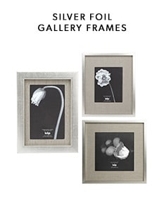shop our new silver foil gallery frame collection