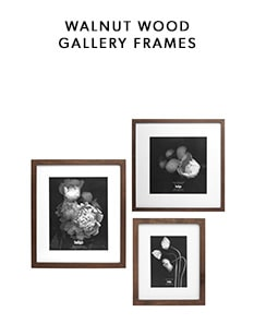 Shop our new walnut wood gallery frame collection