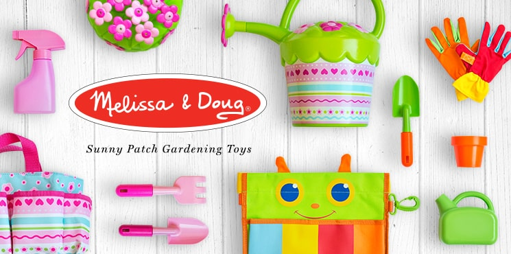 Melissa and Doug - Sunny Patch Gardening Tools. Spend $30 or more on Melissa & Doug Sunny Patch toys and get a FREE Trixie or Happy Giddy Umbrella.*
