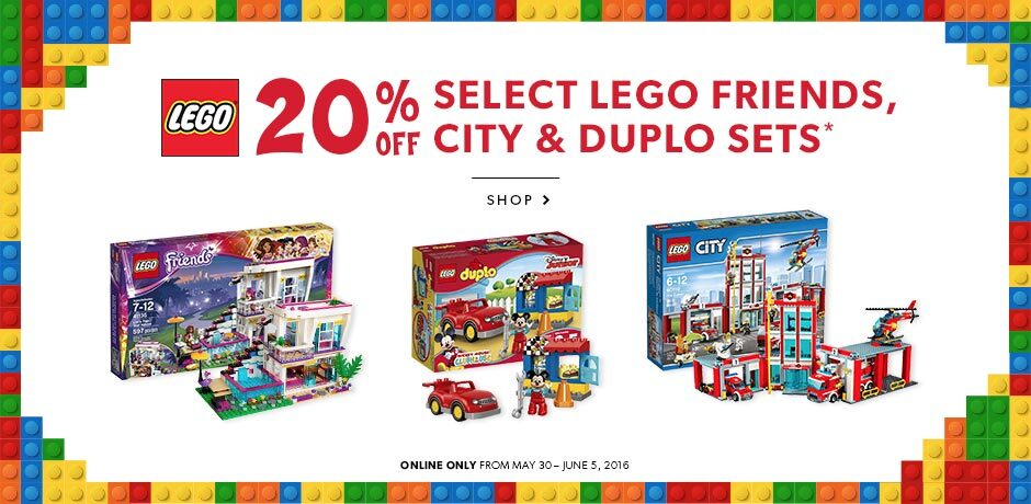 20% OFF Select LEGO